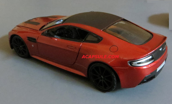Red Aston Martin V12 Vantage S 1/24 Scale Diecast Model by Motormax