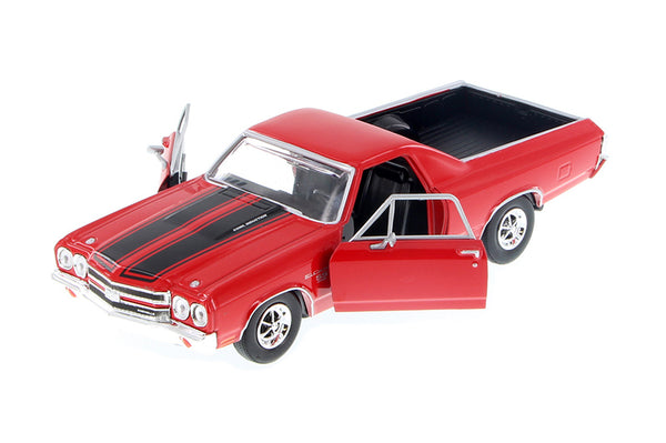 Red 1970 Chevy El Camino SS 396 1/24 Scale Diecast Model