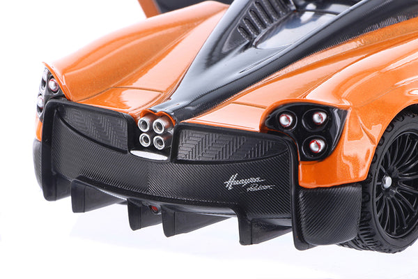 Orange Pagani Huayra Roadster 1/24 Scale Diecast Model in Window Box