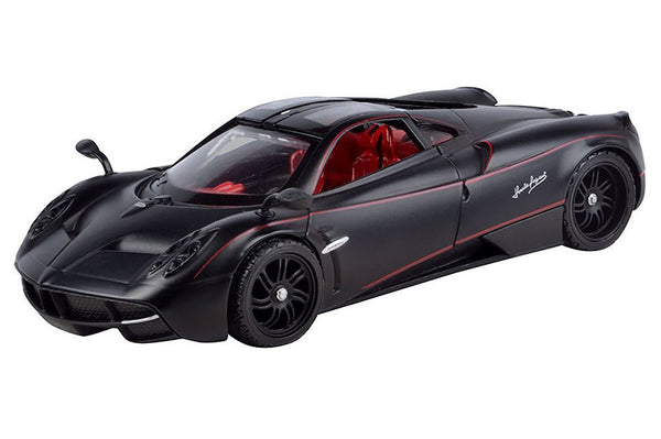 Matte Black Pagani Huayra Hard Top 1/24 Scale Diecast Model