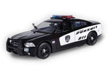 Motormax 2011 Dodge Charger Pursuit Police Car with Light and Sound 1/24 Scale Model