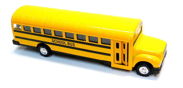 "8.5"" Diecast School Bus with Pullback Action"