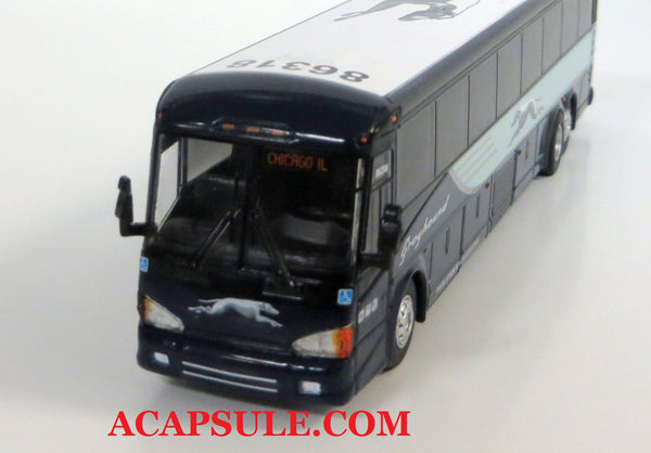 Greyhound 86318 to Chicago - 1/87 Scale MCI D4505 Motorcoach Diecast Model