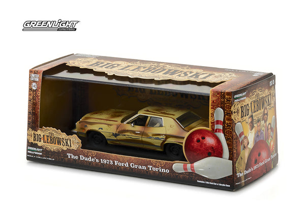 The Big Lebowski The Dude's 1973 Ford Gran Torino 1/43 Diecast Scale Model with Display Case