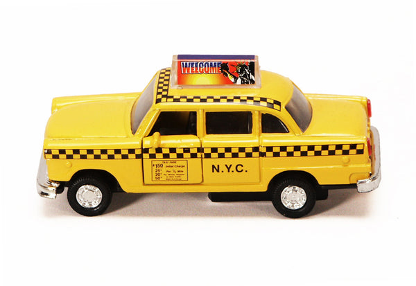 Diecast Classic NYC Taxi Cab with Pullback Action (NO BOX)