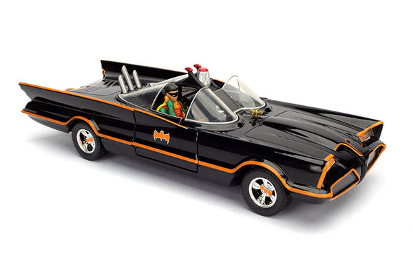 Classic TV Series Batmobile 1/24 Scale Diecast Model with Figures