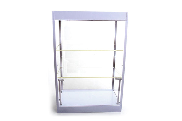 Large LED Light Display Case with 2 Adjustable Shelves (White) Ideal for 1/24 Scale Cars