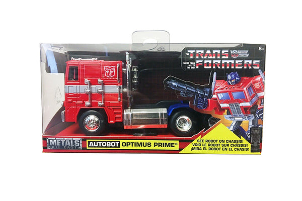G1 Autobot Optimus Prime Truck from Transformers TV Series 5 Inches Diecast Model with Window Box