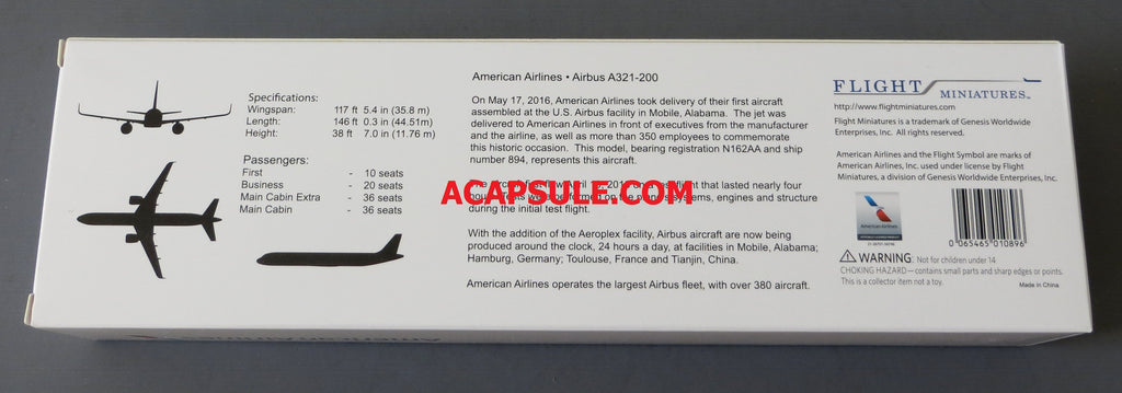 Flight Miniatures American Airlines Airbus A321-200 1/200