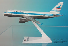 Flight Miniatures American Airlines Piedmont Heritage Livery Airbus A319 1/200 Scale Model with Stand