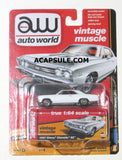 Autoworld Vintage Muscle White 1967 Chevy Chevelle SS 1/64 Diecast Model