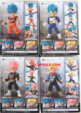 Bandai Action 66 DragonBall Z Action Figures Set of 4 (Son Goku + Rose Goku + Vegeta + Trunks)