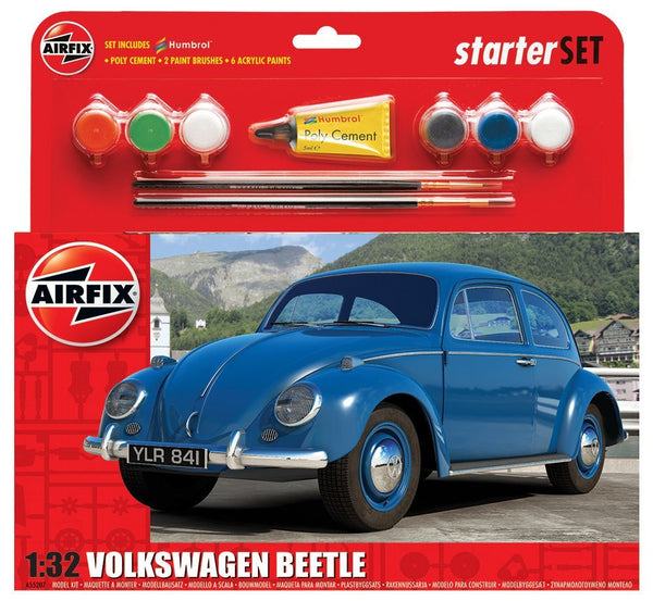 Volkswagen Beetle Starter Set 1:32 Scale Model Kit (Comes with Paint, Brushes and Glue)