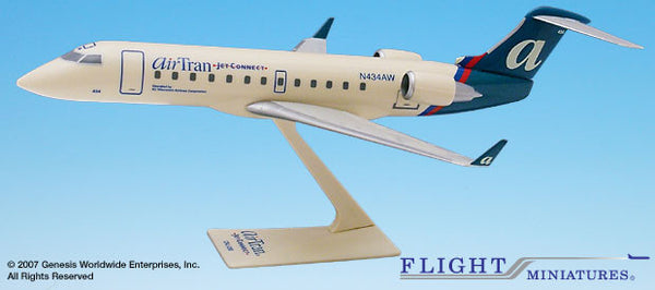Flight Miniatures Airtran JetConnect CRJ200 1/100 Scale Model with Stand