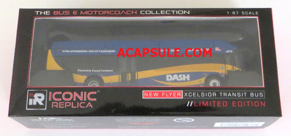 Alexandria DASH Bus 1/87 Scale New Flyer Xcelsior CNG Model Bus