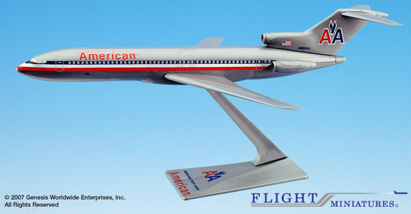 Flight Miniatures American Airlines Boeing 727-200 1/200 Scale Model with Stand