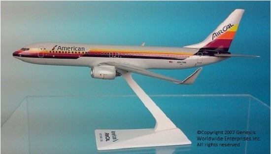 Flight Miniatures American Airlines Air Cal Heritage Livery Boeing 737-800 1/200 Scale Model with Stand N917NN