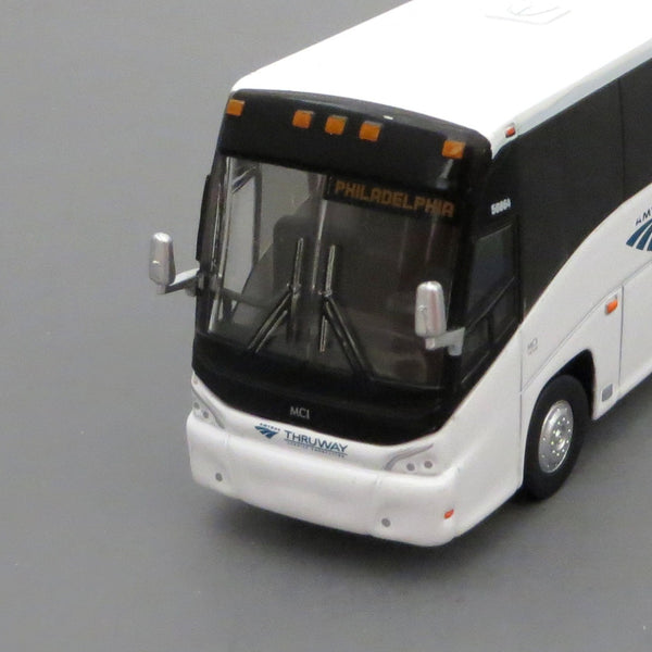 Amtrak Thurway Connector to Philadelphia - 1/87 Scale MCI J4500 Motorcoach Diecast Model