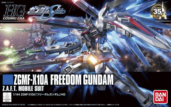 High Grade Cosmic Era ZGMF-X10A Freedom Gundam Z.A.F.T. Mobile Suit 1/144 Scale Model Kit