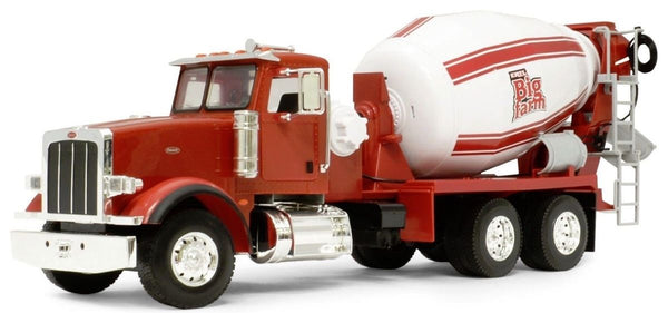 Big Farm Red Peterbilt Model 367 Cement Mixer Tractor 1/16th Scale