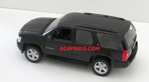 Welly Black 2008 Chevy Tahoe 1/24th Scale Diecast Model with Window Box