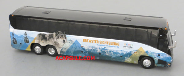 Brewster Sightseeing - 1/87 Scale MCI J4500 Motorcoach Diecast Model