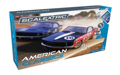 Scalextric ARC One, American Classics Set (Includes 1969 Chevy Camaro and 1969 Ford Mustang Boss Slot Car, Tracks and Controller)