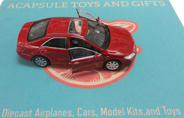 Red Toyota Camry Diecast Car with Pullback Action