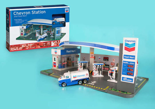 Chevron Gas Station and Foot Mart Playset