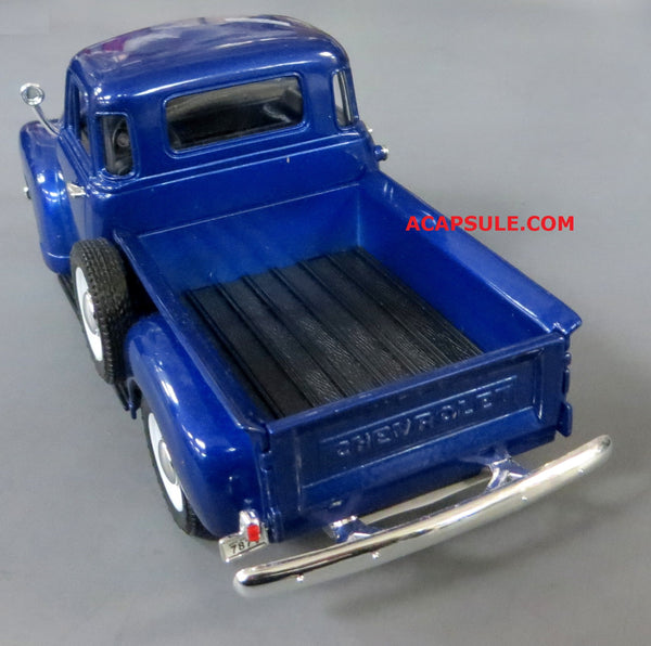 Blue 1953 Chevrolet 3100 Pick Up 1/24 Scale Diecast Model
