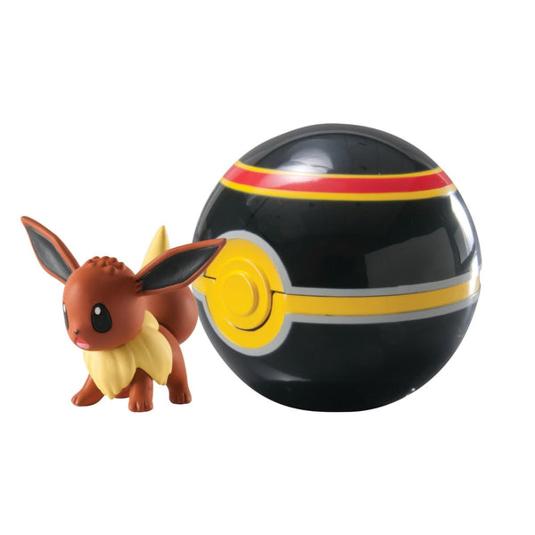 Pokemon Clip N Carry Eevee and Luxury Ball