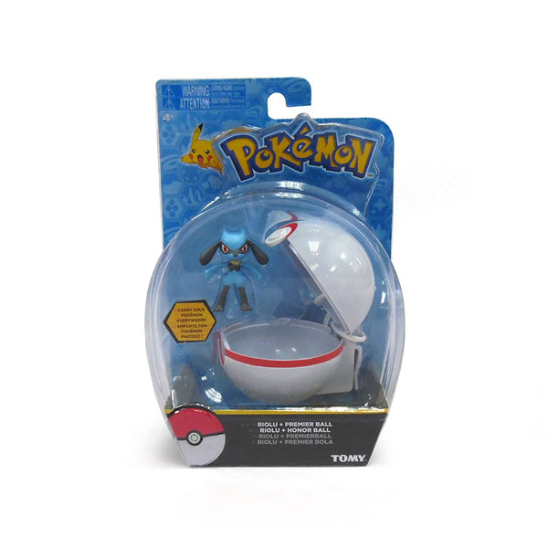 Pokemon Clip N Carry Riolu and Premier Ball