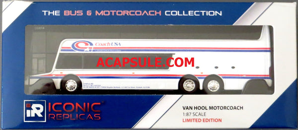 Coach USA M21 New York Express - 1/87 Scale Van Hool TDX Double Decker Bus Model