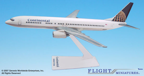 Flight Miniatures Continental Airlines Boeing 737-900 1/200 Scale Model with Stand
