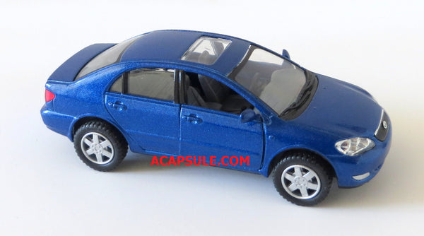 Blue Toyota Corolla Diecast Car with Pullback Action