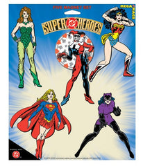 DC Comics Magnet Females Set (Poison Ivy,Harley Quinn,Wonder woman,Supergirl, Catwoman)