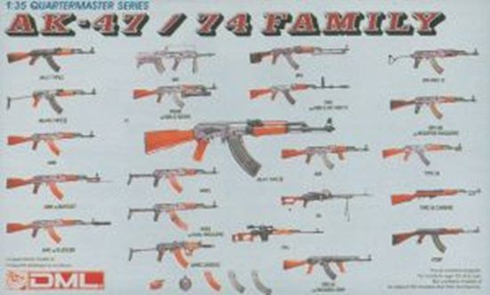 Dragon Quartermaster Series AK-47 / 74 Family Weapons Model Kit 1/35 Scale