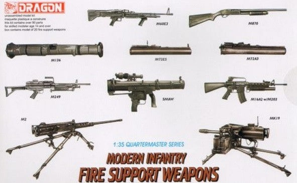 Dragon Modern Infantry Fire Support Weapons Set Model Kit 1/35 Scale