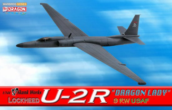 "Dragon Skunk Works U-2R ""Dragon Lady"" 9RW USAF 1/144 Model w/ Stand & Gears"