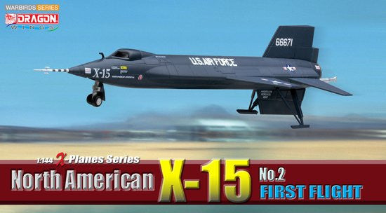 Dragon USAF North American X-15 Prototype No 2 1/144 Model with Stand