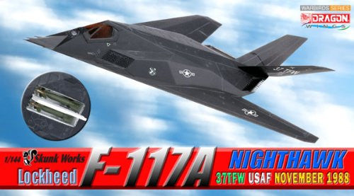 Dragon 51051 USAF F-117 Nighthawk, 37TFW (1988) 1/144 Model with Stand and Gears