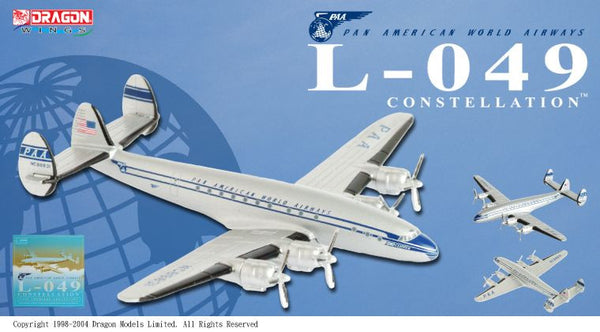 Pan Am L-049 Constellation 1/400 Diecast Model with stand and gears