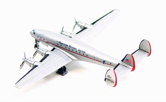 American Airlines L-049 Constellation 1/400 Model w/ Display Case & Stand
