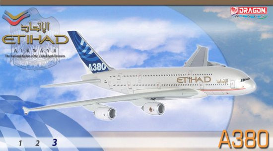 Etihad Airways A380-800 1/400 Diecast Model with Stand and Gears