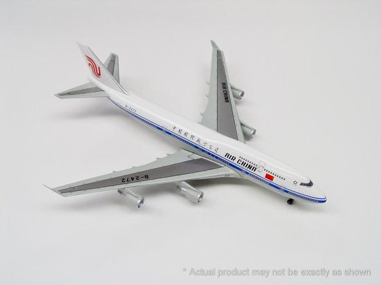 Air China 747-400 B2472 China Air Force One 1/400 Model w Stand and Gears