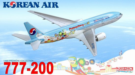 Korean Air 777-200 Pyeongchang 2018 Olympics 1/400 Diecast Model w stand