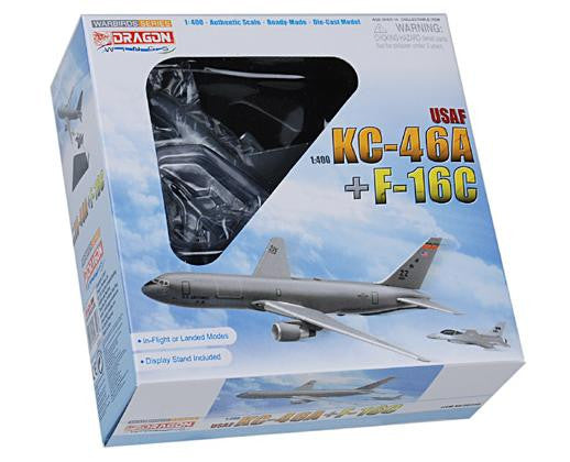 USAF KC-46A + F-16C (Military) w/Stand 1/400 Diecast Scale Model