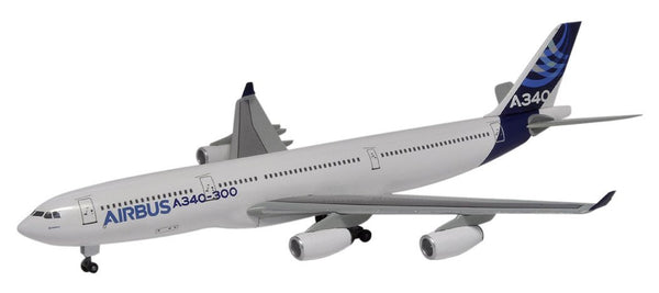 Airbus Corporate A340-300 1/400 Model w/ Stand & Gears DRW56356