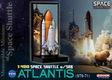 Dragon Space 1/400 Space Shuttle Atlantis with Solid Rocket Booster (STS-71)