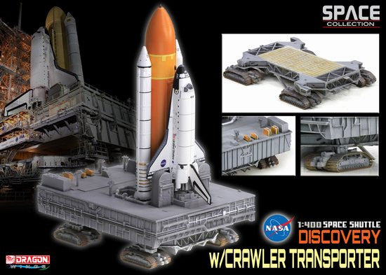 "Dragon Space 1/400 Space Shuttle ""Discovery"" w/Crawler Transporter"